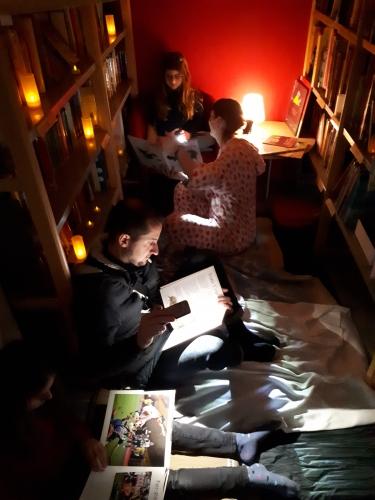 nuit de la lecture,jeu,bar à soupes,cabanes,concours d'écriture